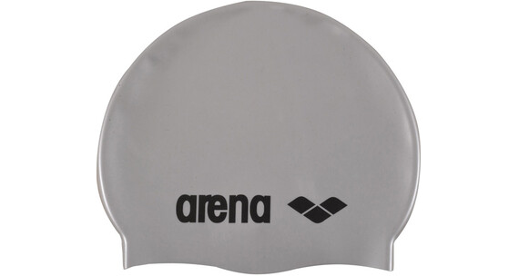 arena Classic Silicone Bathing Cap grey/silver